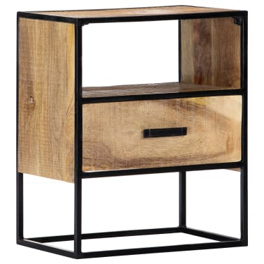 "vidaXL Nightstand 15.7""x11.8""x19.6"" Solid Mango Wood[9/12]"