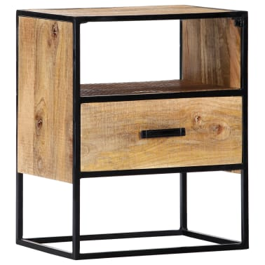 "vidaXL Nightstand 15.7""x11.8""x19.6"" Solid Mango Wood[10/12]"
