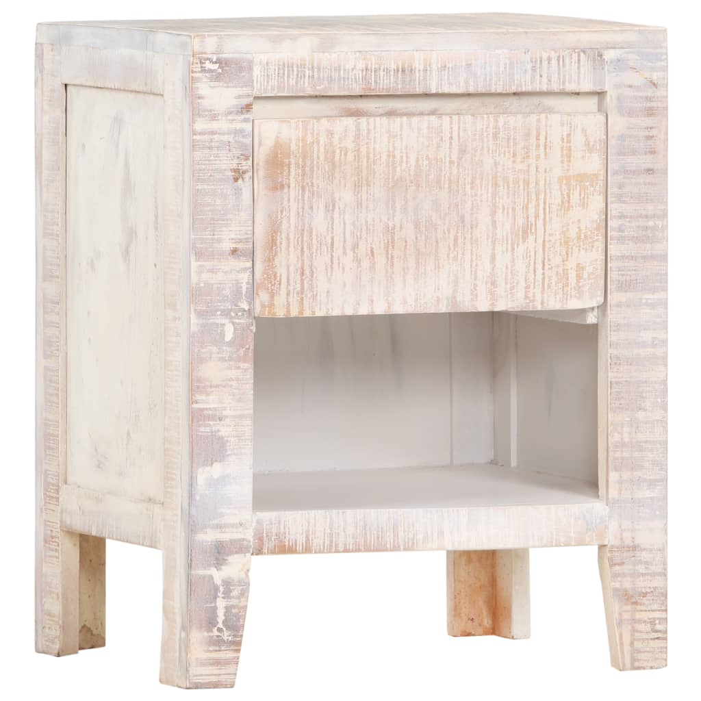 vidaXL Noptieră, 40 x 30 x 50 cm, lemn masiv de acacia poza vidaxl.ro