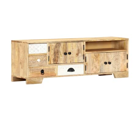 "vidaXL TV Cabinet 47.2""x11.8""x15.7"" Solid Mango Wood"