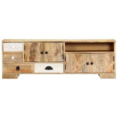 "vidaXL TV Cabinet 47.2""x11.8""x15.7"" Solid Mango Wood[2/14]"