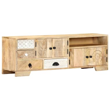 "vidaXL TV Cabinet 47.2""x11.8""x15.7"" Solid Mango Wood[11/14]"