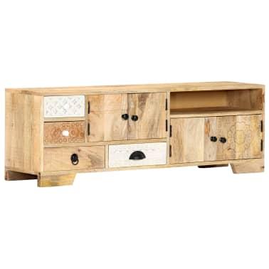 "vidaXL TV Cabinet 47.2""x11.8""x15.7"" Solid Mango Wood[12/14]"