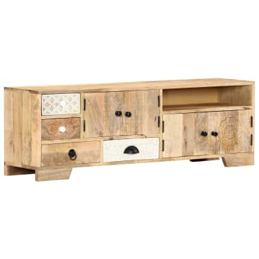 "vidaXL TV Cabinet 47.2""x11.8""x15.7"" Solid Mango Wood[14/14]"