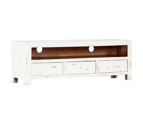 "vidaXL TV Cabinet White 47.2""x11.8""x15.7"" Solid Acacia Wood"