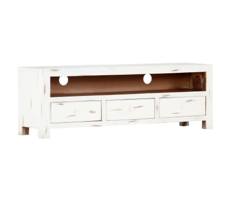 "vidaXL TV Cabinet White 47.2""x11.8""x15.7"" Solid Acacia Wood[12/15]"