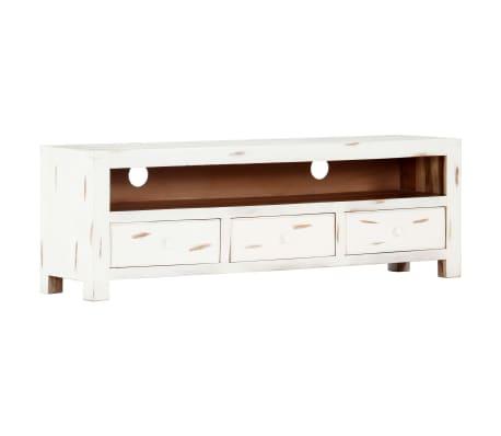 "vidaXL TV Cabinet White 47.2""x11.8""x15.7"" Solid Acacia Wood[14/15]"
