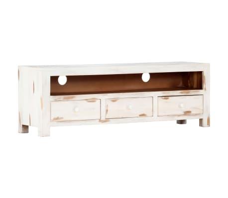 "vidaXL TV Cabinet White 47.2""x11.8""x15.7"" Solid Acacia Wood[15/15]"