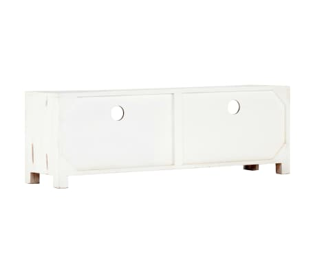 "vidaXL TV Cabinet White 47.2""x11.8""x15.7"" Solid Acacia Wood[3/15]"
