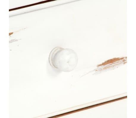 "vidaXL TV Cabinet White 47.2""x11.8""x15.7"" Solid Acacia Wood[6/15]"