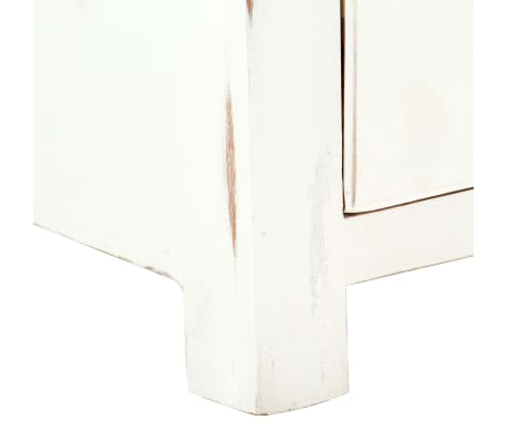 "vidaXL TV Cabinet White 47.2""x11.8""x15.7"" Solid Acacia Wood[8/15]"
