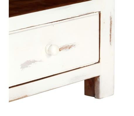 "vidaXL TV Cabinet White 47.2""x11.8""x15.7"" Solid Acacia Wood[9/15]"