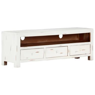 "vidaXL TV Cabinet White 47.2""x11.8""x15.7"" Solid Acacia Wood[11/15]"