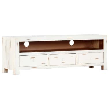 "vidaXL TV Cabinet White 47.2""x11.8""x15.7"" Solid Acacia Wood[13/15]"