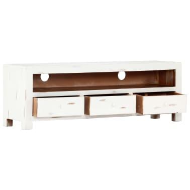 "vidaXL TV Cabinet White 47.2""x11.8""x15.7"" Solid Acacia Wood[4/15]"