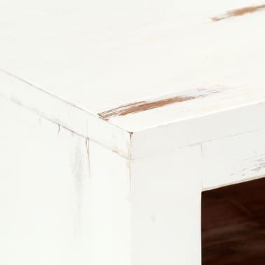 "vidaXL TV Cabinet White 47.2""x11.8""x15.7"" Solid Acacia Wood[7/15]"