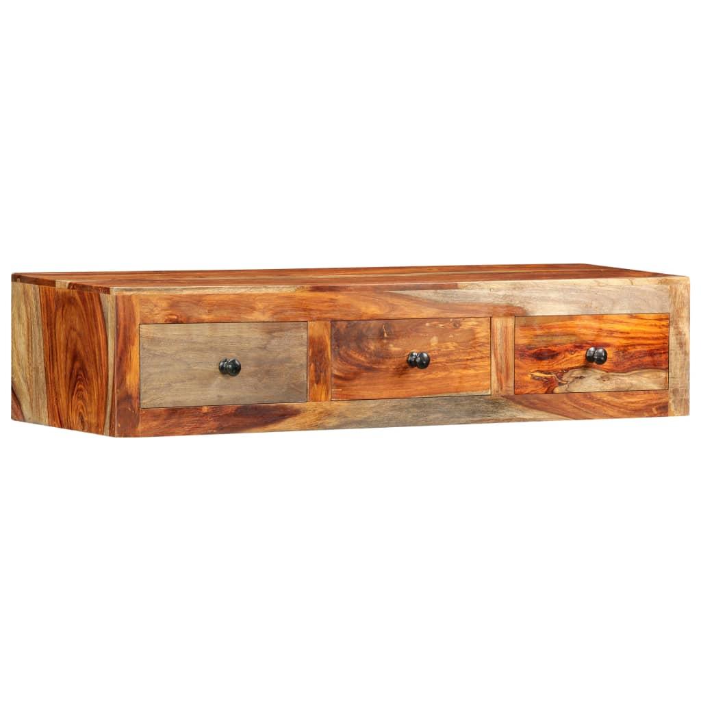 vidaXL Masă consolă de perete, 100x25x20 cm, lemn masiv de sheesham vidaxl.ro