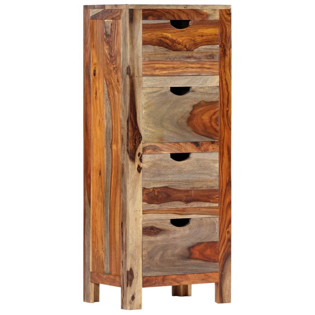 vidaXL Dulap cu sertar, 40 x 30 x 100 cm, lemn masiv de sheesham poza 2021 vidaXL