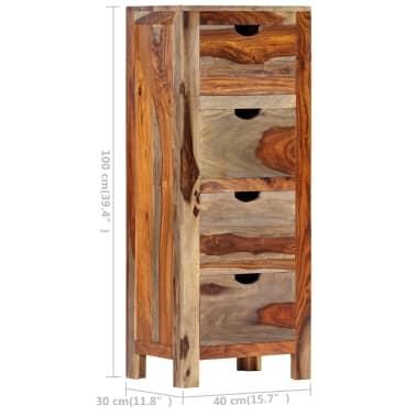 "vidaXL Drawer Cabinet 15.7""x11.8""x39.3"" Solid Sheesham Wood[9/13]"