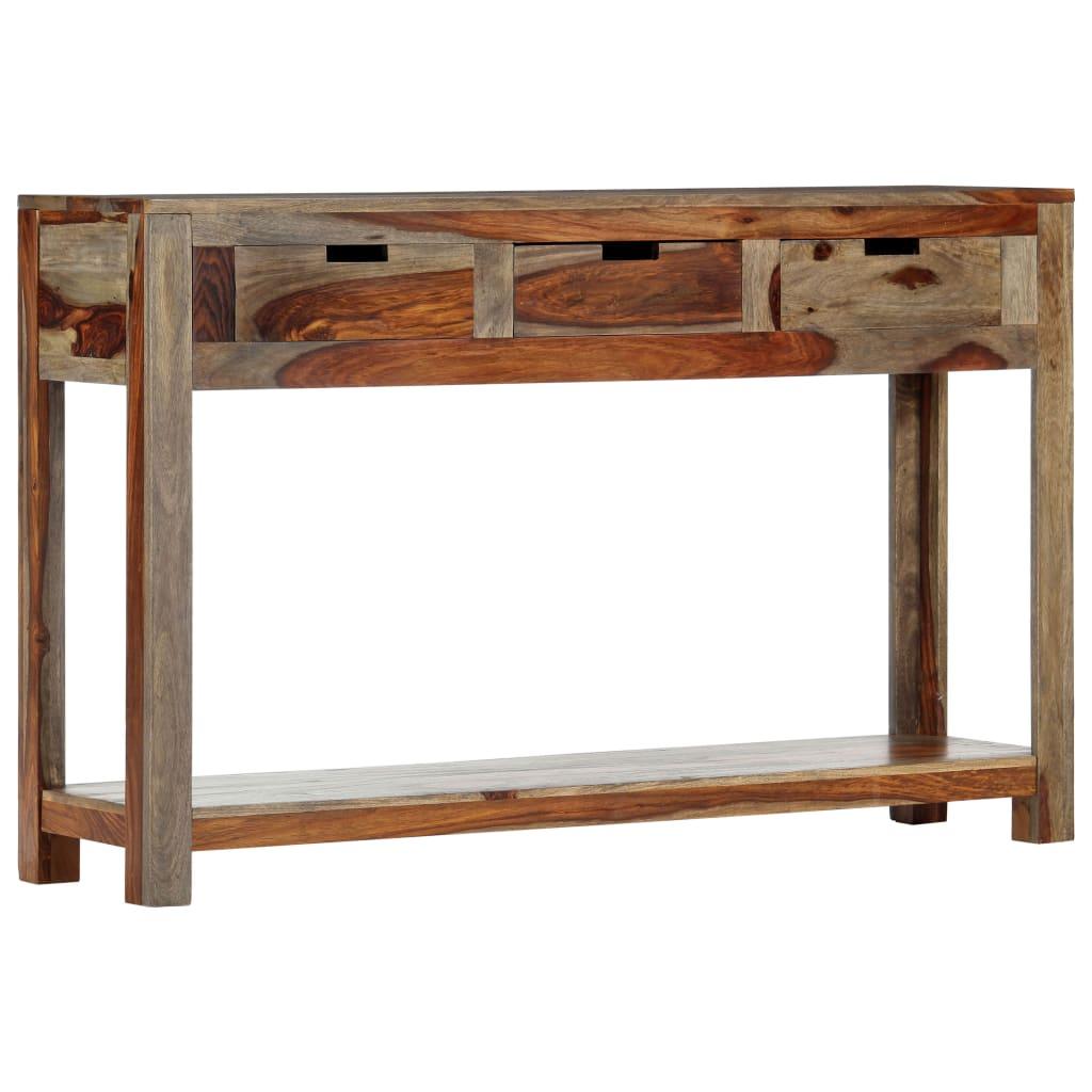 vidaXL Masă consolă cu 3 sertare, 120x30x75 cm, lemn masiv de sheesham vidaxl.ro