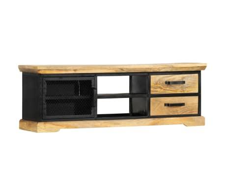 """vidaXL TV Cabinet Black 47.2""""x11.8""""x15.7"""" Solid Mango Wood"""
