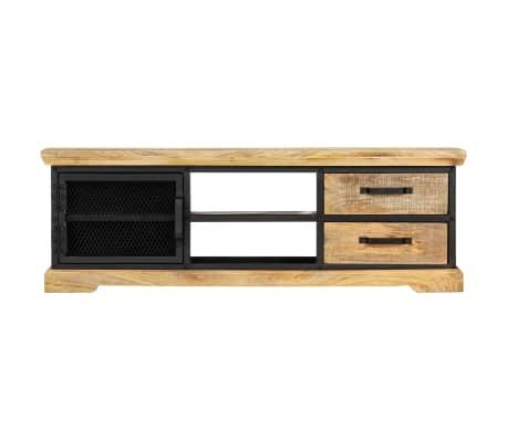 vidaXL Tv-meubel 120x30x40 cm massief mangohout zwart[2/13]