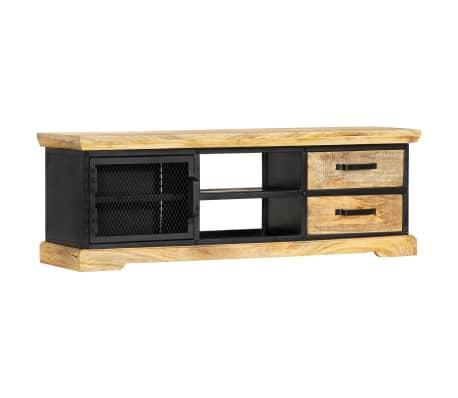 vidaXL Tv-meubel 120x30x40 cm massief mangohout zwart[13/13]