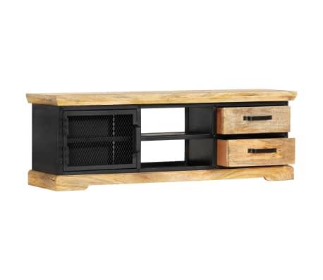 vidaXL Tv-meubel 120x30x40 cm massief mangohout zwart[4/13]