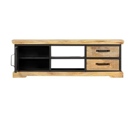 vidaXL Tv-meubel 120x30x40 cm massief mangohout zwart[5/13]
