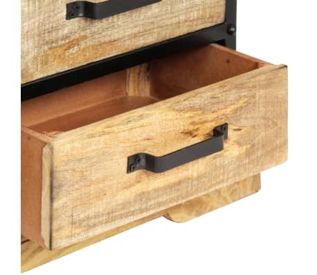 vidaXL Tv-meubel 120x30x40 cm massief mangohout zwart[6/13]
