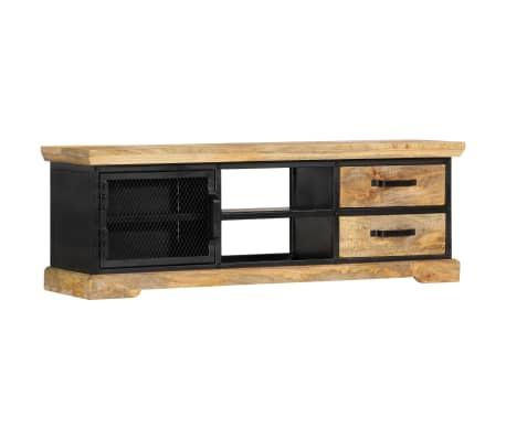 vidaXL Tv-meubel 120x30x40 cm massief mangohout zwart[10/13]