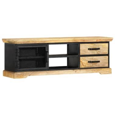 vidaXL Tv-meubel 120x30x40 cm massief mangohout zwart[12/13]