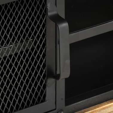 vidaXL Tv-meubel 120x30x40 cm massief mangohout zwart[7/13]