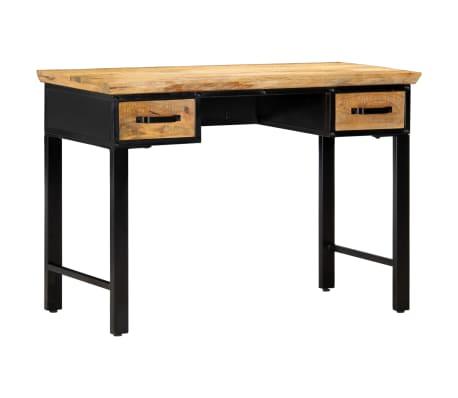 vidaXL Table d'écriture 110 x 50 x 76 cm Bois de manguier massif[1/11]