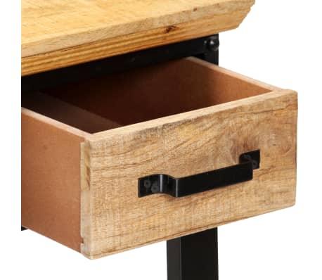 vidaXL Table d'écriture 110 x 50 x 76 cm Bois de manguier massif[5/11]