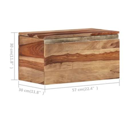 vidaXL Coffre de rangement 30 x 30 x 57 cm Bois massif de Sesham[10/13]