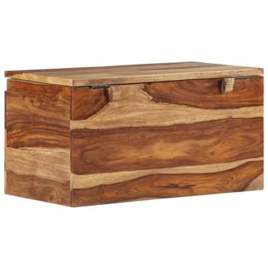 vidaXL Coffre de rangement 30 x 30 x 57 cm Bois massif de Sesham[2/13]
