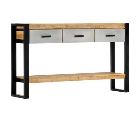 vidaXL Console Table 130x30x76 cm Solid Mango Wood