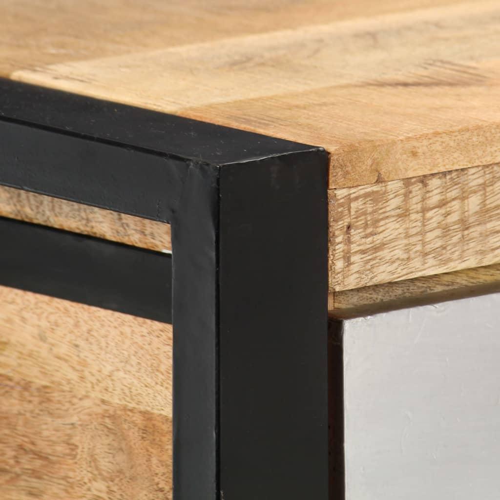 vidaXL Konzolni stol od masivnog drva manga 130 x 30 x 76 cm