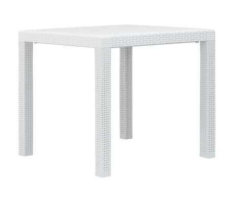 Tavolo Giardino Plastica Bianco.Vidaxl Tavolo Da Giardino Bianco 79x79x72 Cm In Plastica Stile