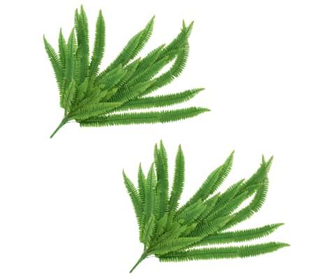 vidaXL 2 pcs Feuilles artificielles de fougère Vert 120 cm