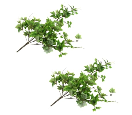 vidaXL Sztuczne gałązki winorośli, 2 szt., zielone, 90 cm