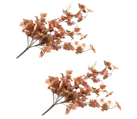 vidaXL Sztuczne gałązki winorośli, 2 szt., czerwone, 90 cm