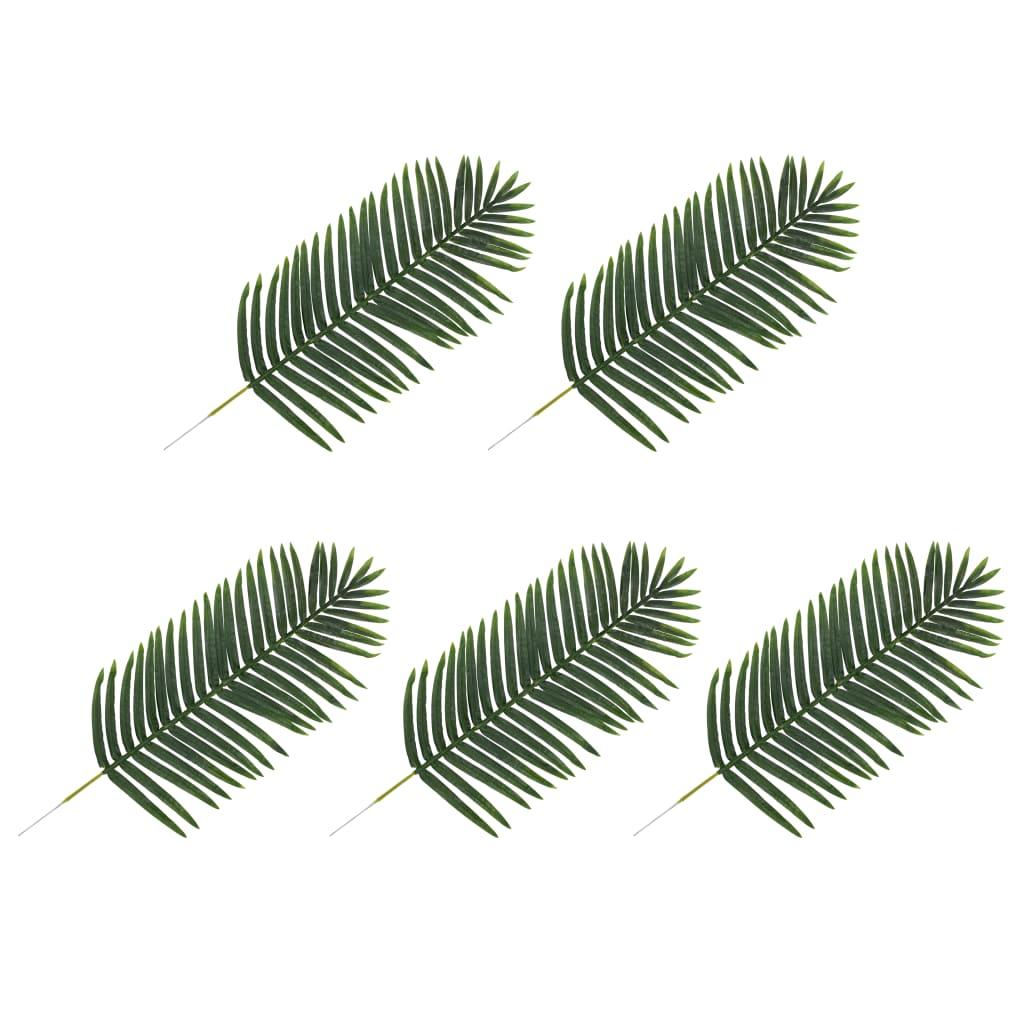 vidaXL Frunze artificiale de palmier, 5 buc., verde, 125 cm vidaxl.ro