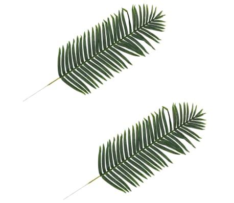 vidaXL 2 pcs Feuilles artificielles de palmier Vert 140 cm