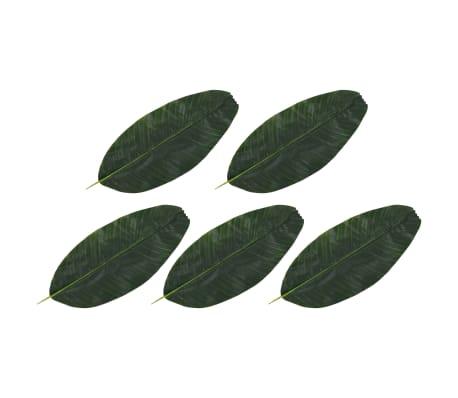 vidaXL Sztuczne liście bananowca, 5 szt., zielone, 62 cm