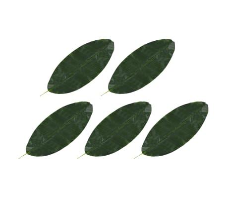 vidaXL 5 pcs Feuilles artificielles de bananier Vert 80 cm