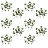 vidaXL Foglie Artificiali di Edera 10 pz Verdi e Bianche 70 cm