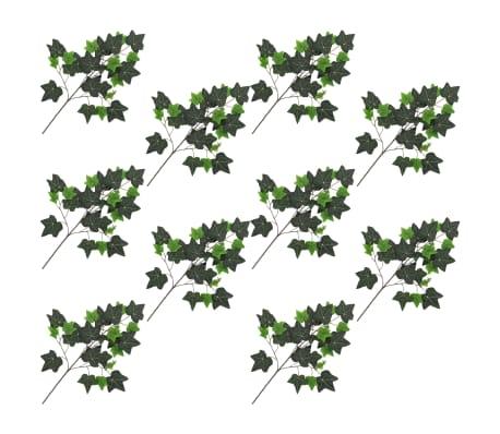 vidaXL Sztuczny bluszcz, 10 szt., zielony, 70 cm