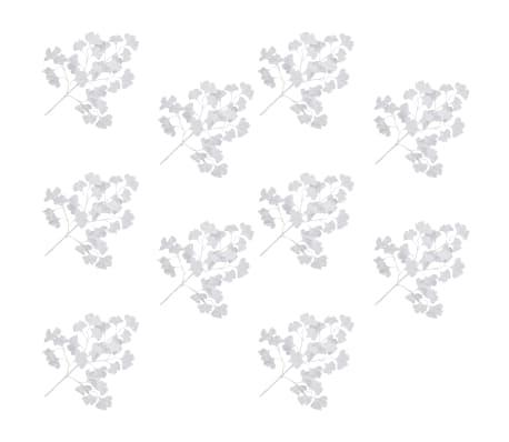 vidaXL Sztuczny miłorząb, 10 szt., biały, 65 cm